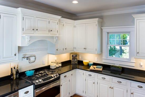 lighted kitchen