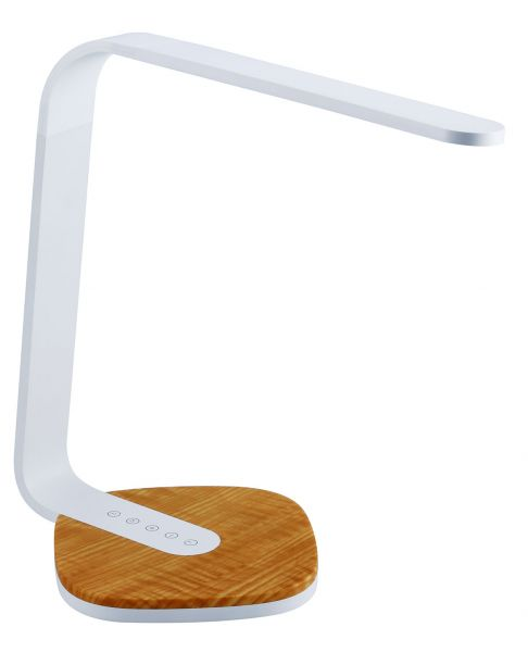 LED Task Light with Wood Grain Base