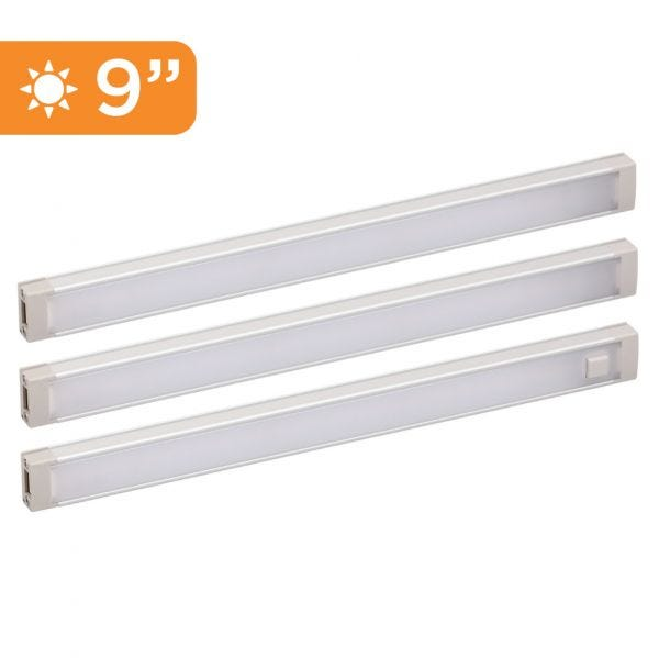3-Bar Warm Under Cabinet Lighting Kit