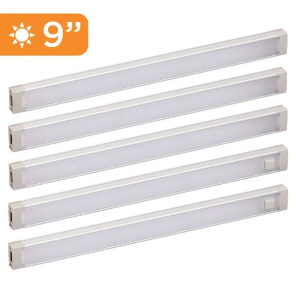5-Bar Dimmable Under Cabinet Lighting Kit