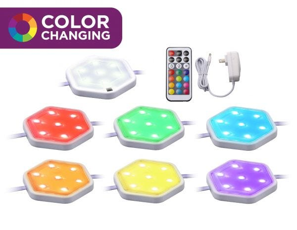 Color Changing RGB Puck Lights