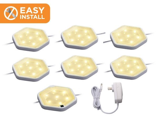 Easy Install LED Puck Light Kit