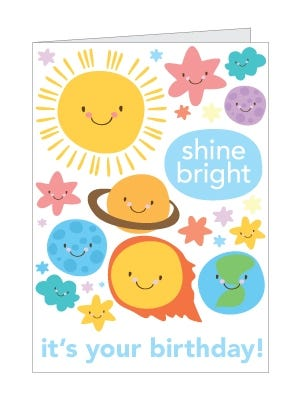 Printable Solar System Birthday Card