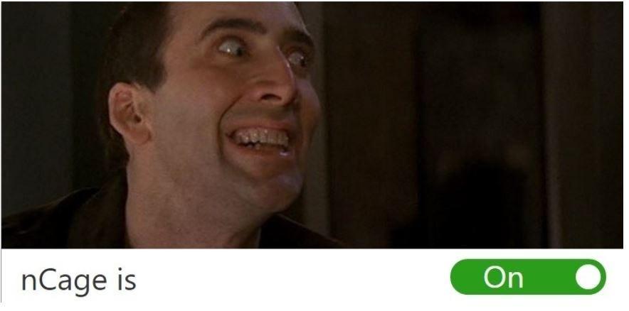 Nicholas Cage Chrome Extension Prank