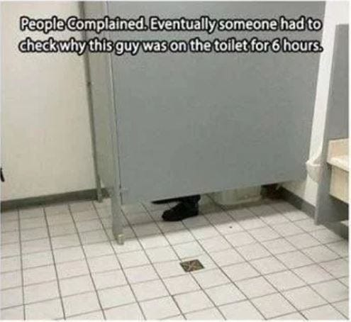 Pants in Stall Prank