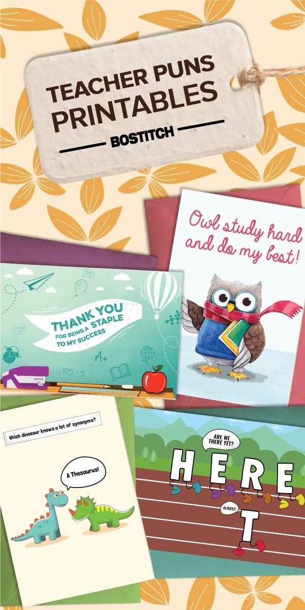 Teacher Puns Printable Cards