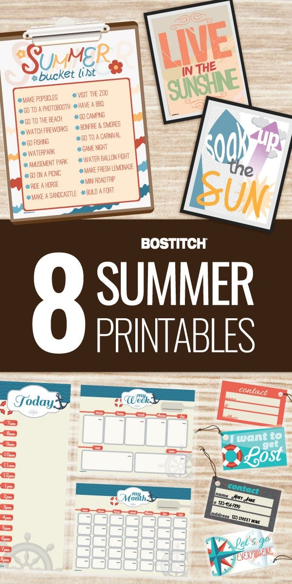 Summer Printables and Activities