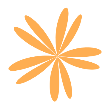Orange Abstract Flower /><p style=