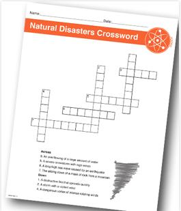 Natural Disasters Printable