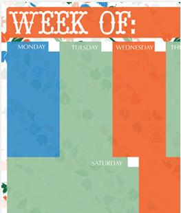 Fall Weekly Calendar