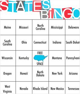 USA States Bingo