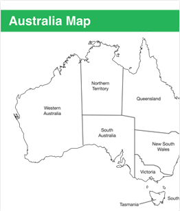 Australia Map & Worksheet