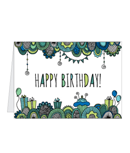 Printable Blue Birthday Card