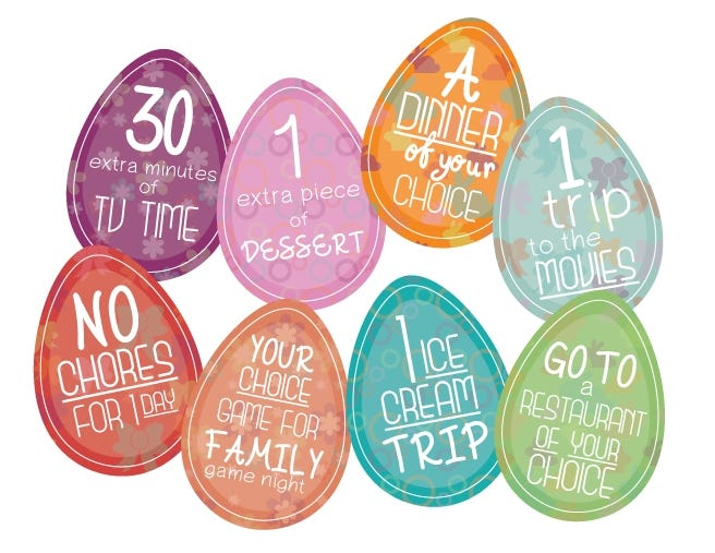 Printable Easter Egg Coupons