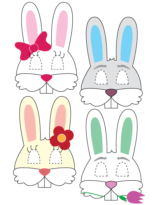 Printable Easter Bunny Masks