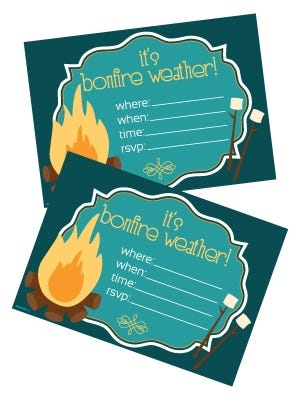 Bonfire Invitations