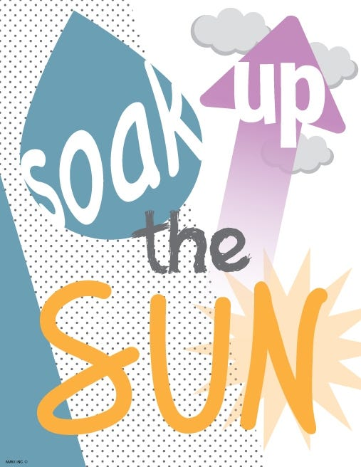 Soak Up The Sun Wall Art