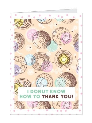 Printable Donut Thank You Card