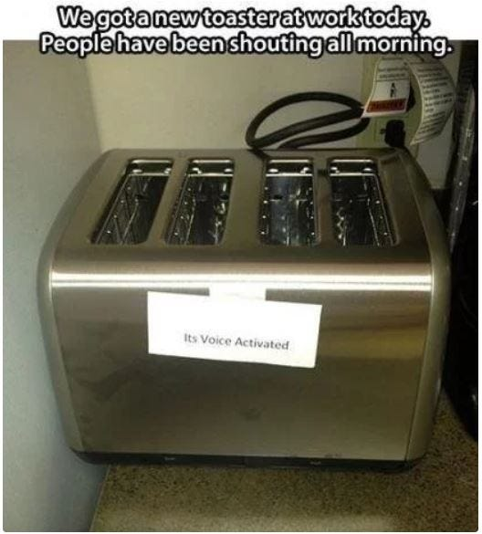 Voice Activated Toaster Prank