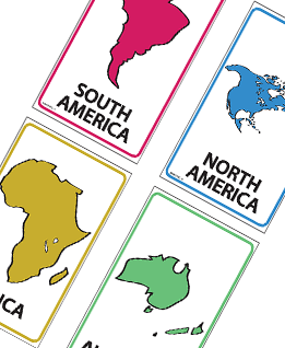 Continents Flash Cards