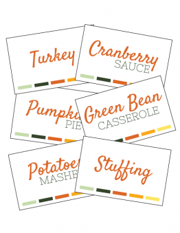Thanksgiving Food Labels