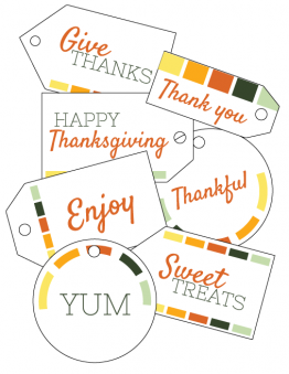 Thanksgiving Leftover Tags