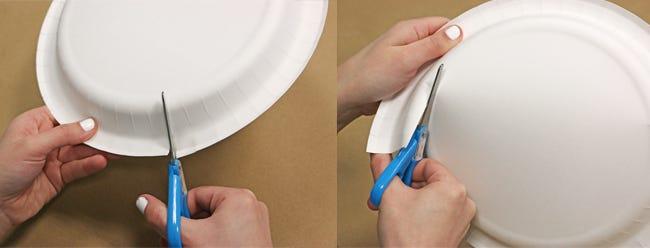 Cutting paper plate