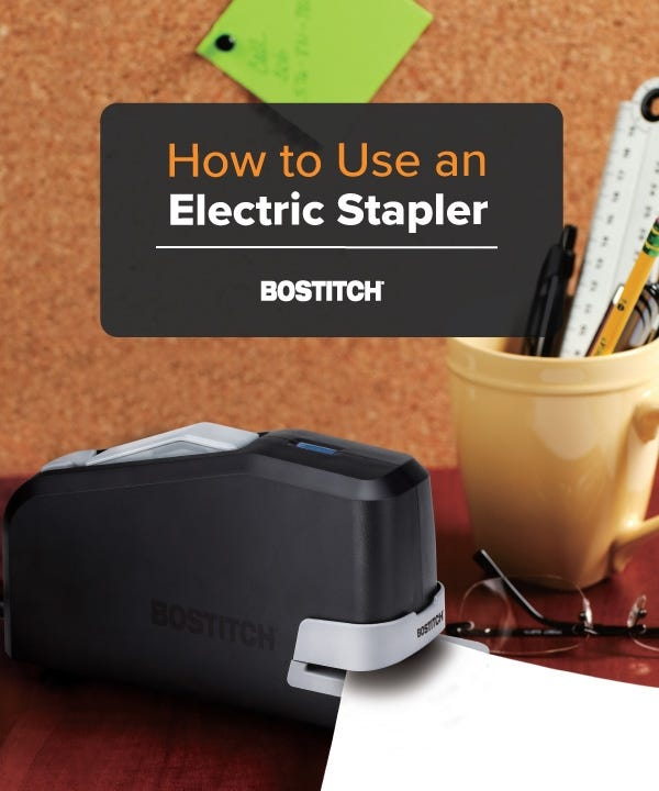 How to Use an Electric Stapler