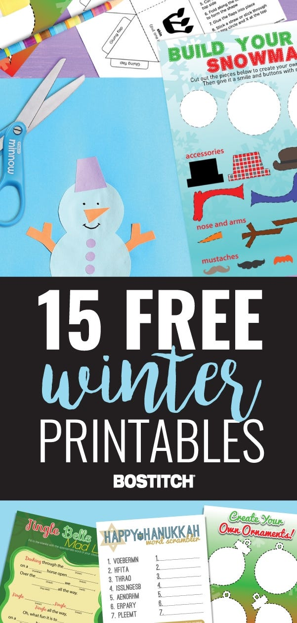 15 Free Winter Printables
