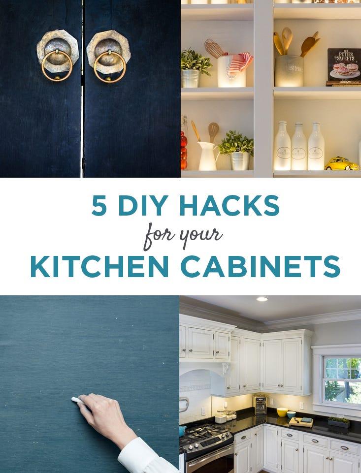 5 DIY Cabinet Hacks