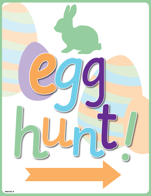 Printable Easter Egg Hunt Sign