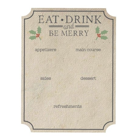 Printable Holiday Menu